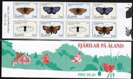 1994 Aland Butterflies Booklet MNH. - Aland