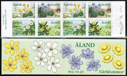 1997 Aland Spring Flowers Booklet MNH. - Aland