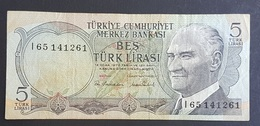 AF - Turkey Banknote 1976 5 LIRAS UNC I35 184471 - Turquia