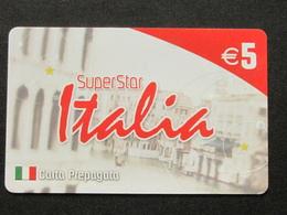 *ITALY* USATA USED - INTERNATIONAL PREPAID PHONE CARD - SUPERSTAR ITALIA - Italia