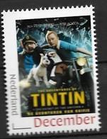 Nederland 2020  Filmposter   Tintin  Kuifje  Postfris/mnh/sans Charniere - Period 2013-... (Willem-Alexander)