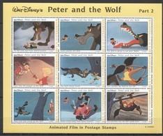 PK412 MALDIVES CARTOONS WALT DISNEY PETER & THE WOLF PART 2 1KB MNH SLIGHTLY CREASED UPPER LEFT CORNER - Disney