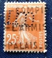 Timbre Semeuse  Camée Perforé - 1906-38 Semeuse Camée