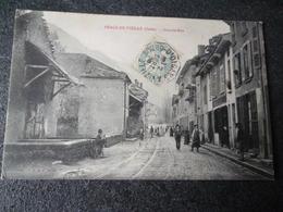 Cpa 38 Peage De Vizille Grande Rue - France