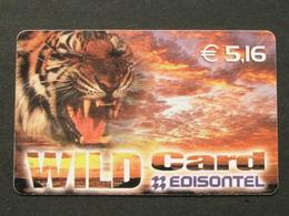 *ITALY* USATA USED - INTERNATIONAL PREPAID PHONE CARD - EDISONTEL WILD CARD - Italia