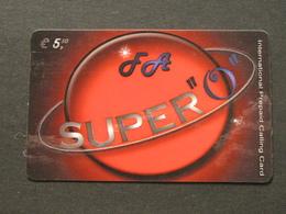 *ITALY* USATA USED - INTERNATIONAL PREPAID PHONE CARD - SUPER O - Italia