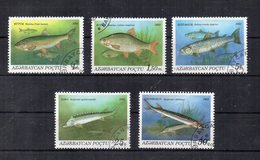 AZERBAIJAN - 1993 - Tematica Animali - Pesci - 5 Valori - Usati - (FDC19397) - Azerbaijan
