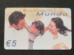 *ITALY* USATA USED - INTERNATIONAL PREPAID PHONE CARD - CRYSTAL MUNDO - Italia