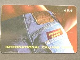 *ITALY* USATA USED - INTERNATIONAL PREPAID PHONE CARD - POCKET CARD - Italia