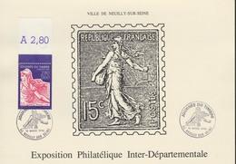 D 92 - NEUILLY Sur SEINE - Journée Du Timbre - Dépliant 4 Pages - Carnet Oblitération - Expo Philatélique Départementale - France