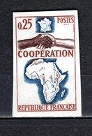 FRANCE  N° 1432a  NON DENTELE NEUF SANS CHARNIERE  COTE 27.00€   COOPERATION - Francia