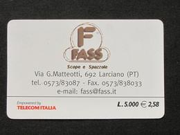 *ITALY* USATA USED - TELECOM ITALIA CARTA ALBERGHI FASS USATA - Italia
