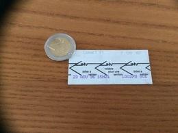 "Ticket De Bus ""SVTU - CARNET - VERSAILLES (78) 1996 - Europe"