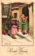 Neujahr, Kinder Mit Geschenken, Spielzeug, Sign. Pauli Ebner, 30er Jahre - Ebner, Pauli