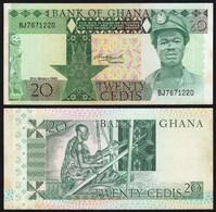 Ghana - 20 Cedis Banknote 1982 Pick 21c AUNC (1-)     (21328 - Banknotes
