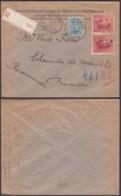 Belgique 1920- Lettre Recommandée Vers Bruxelles De Veurne-Furnes...............   (EB) DC6308 - Belgium
