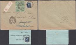 Belgique 1921 COB 137 Bloc De 4 +187 Sur Lettre Recommandée Vers Laeken De Bruxelles...............   (EB) DC6310 - 1921-1925 Petit Montenez