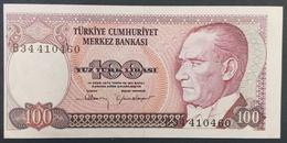 AF - Turkey Banknote 1984 100 LIRAS UNC B34 410460 - Turchia
