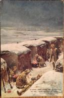 CPA Militaria En Guerre Troupe Indienne Dans Les Tranchees, Non écrite, éd LV Cie, Illustration - Guerre 1914-18