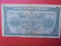 BELGIQUE 10 FRANCS 1943 CIRCULER (B.6) - [ 2] 1831-... : Koninkrijk België