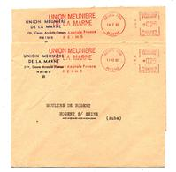 Lettre Flamme Ema  Reims Union Meuniere - Poststempel (Briefe)