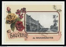 WAASMUNSTER   .....  2 Cartes Souvenirs Gare ... Train  Creations Modernes Série Limitée - Waasmunster
