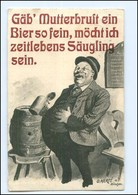Y14189/ Dicker Mann Trinkt Bier  Humor  O. Merte AK 1910 - Cartoline