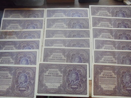 POLOGNE LOT 34 BILLETS 1000+5000 MAREK 1919+1920 CIRCULER ET PEU CIRCULER (B.6) - Monnaies & Billets