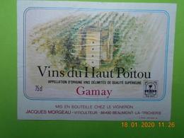 1 Etiquette NEUVE De Vin De TOURAINE Gamay - Sin Clasificación