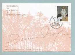 FDC, Portugal, Centenário De Bernardo Marques, Mark CTT Lisboa 10/6/1998   (2 Scans) - FDC