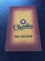 Hotelkarte Room Key Keycard Clef De Hotel Tarjeta Hotel    CHEROKEE CASINO RESORT CHEROKEE - Télécartes