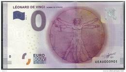 Billet Touristique 0 Euro 2016  Léonard De VINCI - EURO