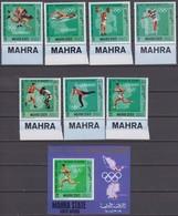 Mahra State (Aden) 1968 Mi # 99-105 А Bl 11 А Mexico City & Munich Summer Olympics, German Olympic Champions, MNH OG - Verano 1968: México
