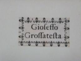 Ex-libris Typographique XVIIIème - GIOSEFFO GROSSATESTA - Ex-libris