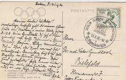Allemagne Cachet Jeux Olympiques Berlin Sur Carte Postale 1936 - Allemagne