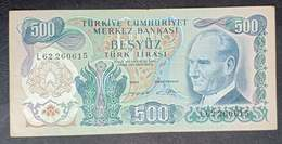 AF - Turkey Banknote 1971 500 LIRAS P-190d L62 260615 - Turchia