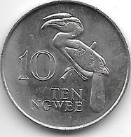 *zambia 10 Ngwee 1982 Km 12  Unc - Zambie
