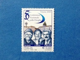 2009 ITALIA CONFERENZA SULLE DROGHE FRANCOBOLLI NUOVO ITALY STAMP NEW MNH** - 2001-10: Mint/hinged