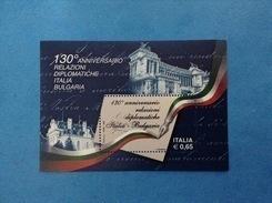 2009 ITALIA RELAZIONI DIPLOMATICHE CON BULGARIA FOGLIETTO NUOVO ITALY SOUVENIR SHEET MNH** - 6. 1946-.. Repubblica