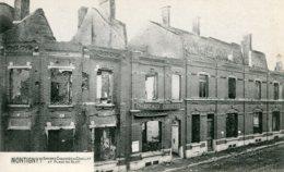 FRANCE MONTIGNY - Chaussee De Couillet Et Place Du Blot - Word War One Damaged Street - Montigny Le Bretonneux