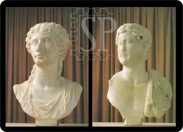 Portugal Museu Municipal De Faro Busto De Adriano Séc. II D.c. Busto De Agripina Villa De Milreu Sculpture Skulptur - Museen