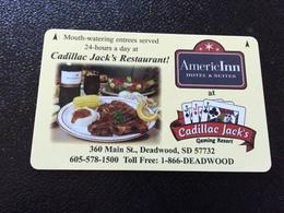 Hotelkarte Room Key Keycard Clef De Hotel Tarjeta Hotel    CADILLAC JACK `S DEADWOOD - Télécartes