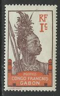 GABON 1910 YT 33** NEUF SANS CHARNIERE - MNH - Nuevos