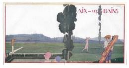 Aix Les Bains   Le Nouveau Golf    Dépliant  37 X 12,5 Cm     8 Petites Photos - Advertising