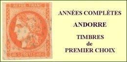 Andorre, Année Complète 2005, N° 604 à N° 619** Y Et T - French Andorra
