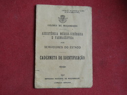 Moçambique - Mozambique - Caderneta De Identificação Assistência Médico Cirúrgica E Farmacêutica 1953 - Vecchi Documenti