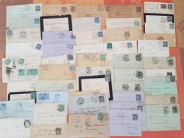 France -Lots De 100 Lettres Et Cartes - TOUS AU TYPE SAGE - DEPART 1 EURO - Postmark Collection (Covers)