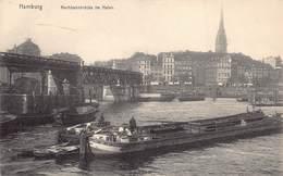 Allemagne - Hamburg - Hochbahnbrücke Im Hafen - Péniche - Alemania