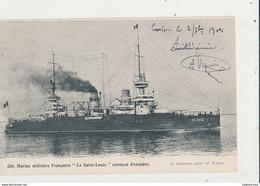 MARINE MILITAIRE  FRANCAISE LE SAINT LOUIS CPA BON ETAT - Krieg