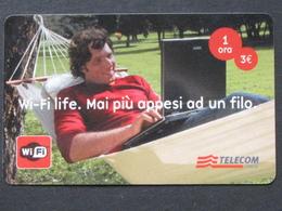 TELECOM ITALIA - WI FI LIFE SCAD. 31.12.2009 - USATA - [2] Sim Cards, Prepaid & Refills